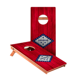 Arkansas Flag Junior Cornhole Boards bag toss game set
