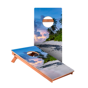 KG Beach Scene Recreation Cornhole Boards