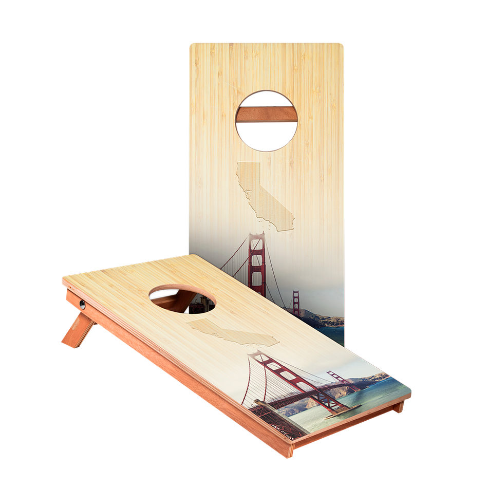 KG California Golden Gate Bridge Junior Cornhole Boards bag toss game set