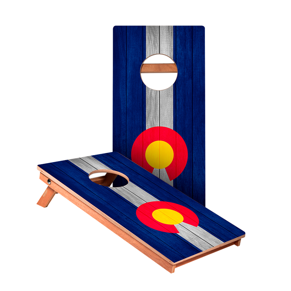 KG Colorado Flag Recreation Cornhole Boards