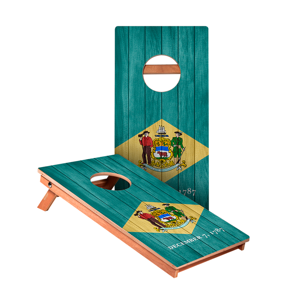 KG Delaware Flag Junior Cornhole Boards bag toss game set