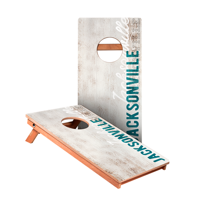 Jacksonville Vintage Gameday Junior Cornhole Boards bag toss game set