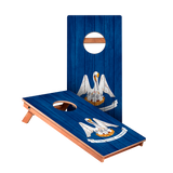 KG Louisiana Flag Junior Cornhole Boards bag toss game set