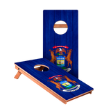 Michigan Flag Junior Cornhole Boards bag toss game set