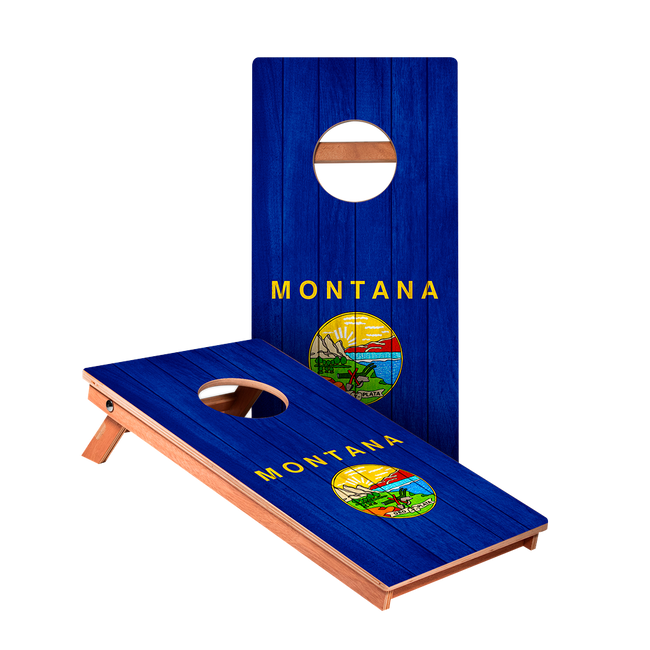 Montana Flag Junior Cornhole Boards bag toss game set