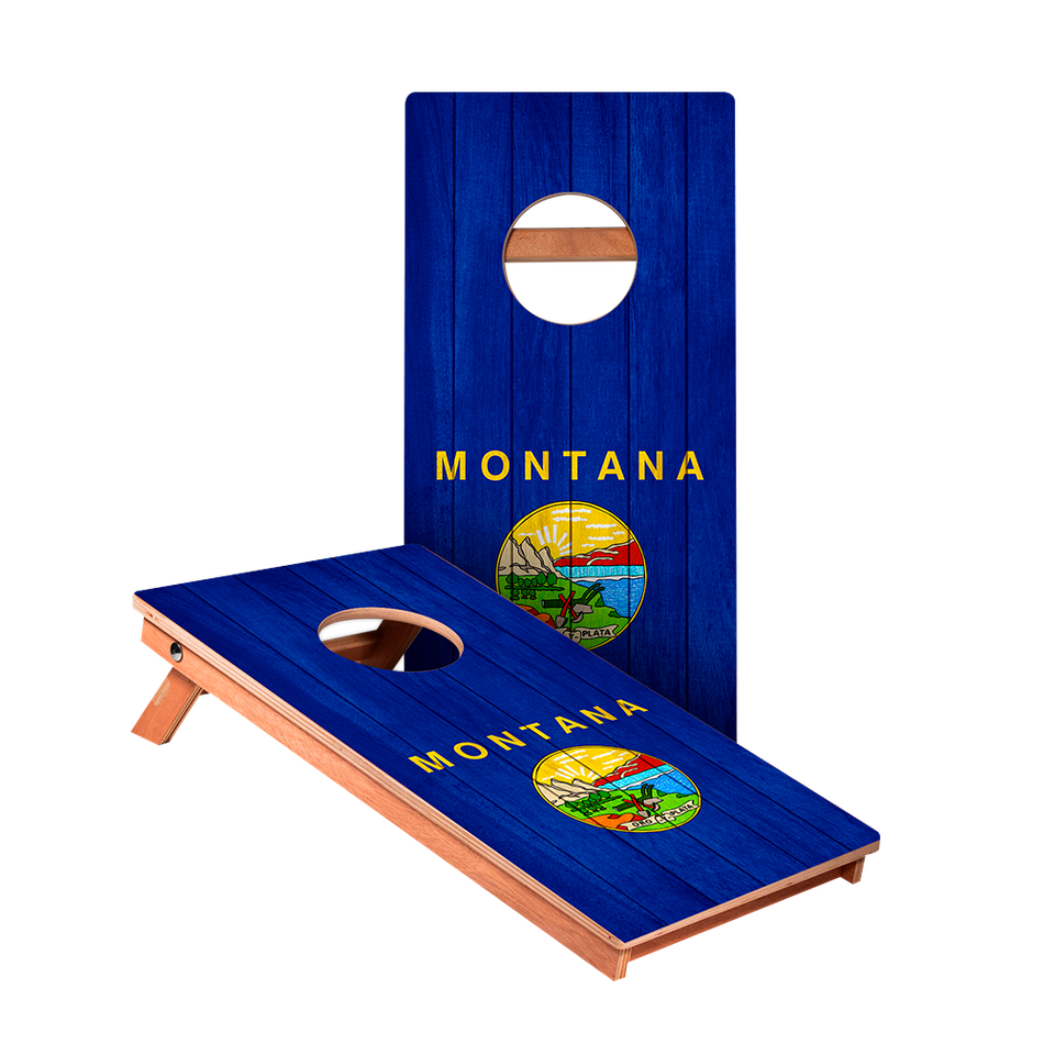 KG Montana Flag Junior Cornhole Boards bag toss game set