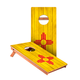 New Mexico Flag Junior Cornhole Boards bag toss game set