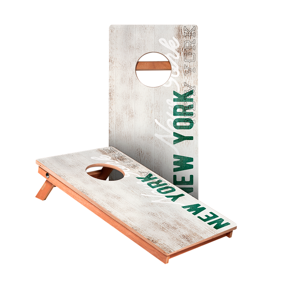 KG New York Green Vintage Gameday Junior Cornhole Boards bag toss game set