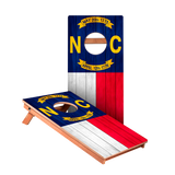 North Carolina Flag Junior Cornhole Boards bag toss game set