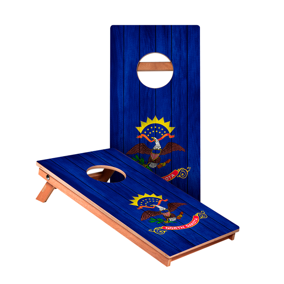 KG North Dakota Flag Junior Cornhole Boards bag toss game set