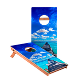 KG Ocean Boardwalk Junior Cornhole Boards bag toss game set