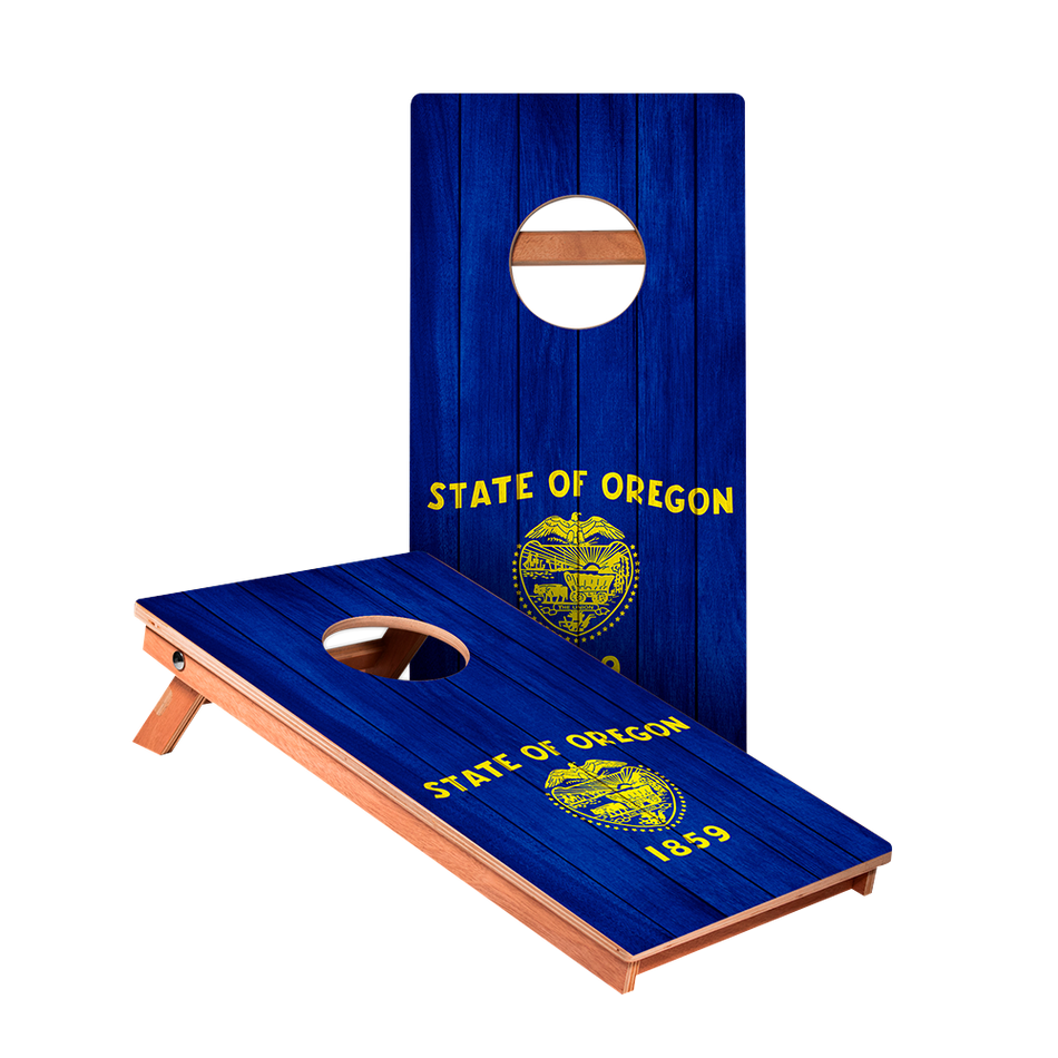 KG Oregon Flag Junior Cornhole Boards bag toss game set
