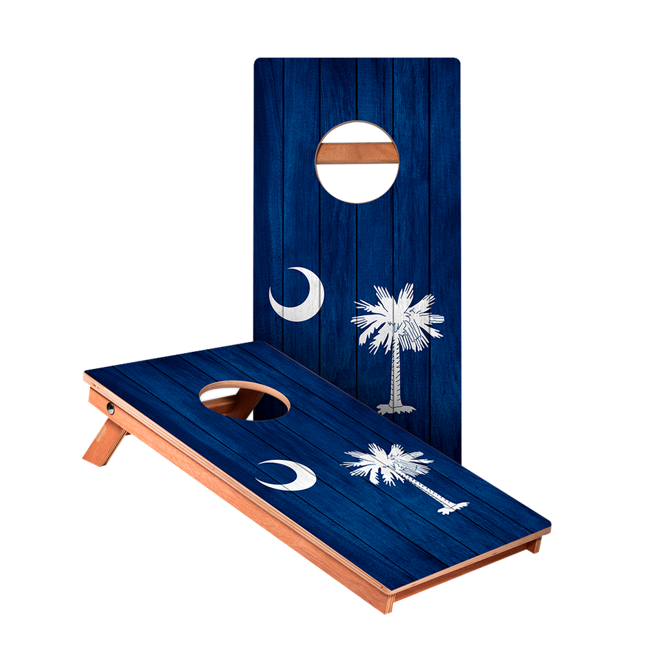 South Carolina Flag Junior Cornhole Boards bag toss game set