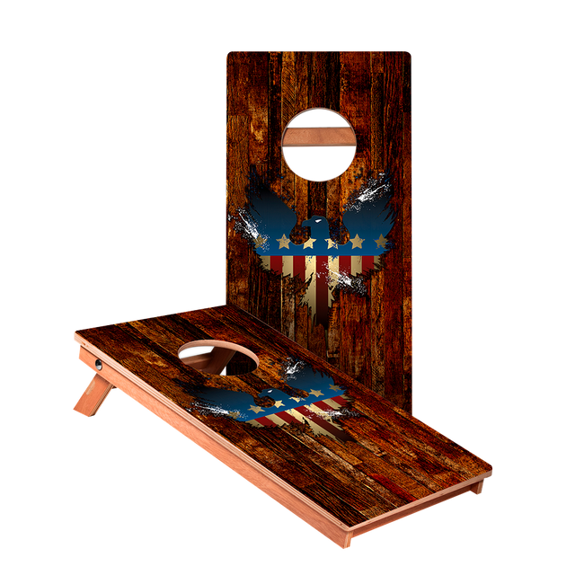 USA Eagle Junior Cornhole Boards bag toss game set