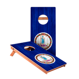 Virginia Flag Junior Cornhole Boards bag toss game set