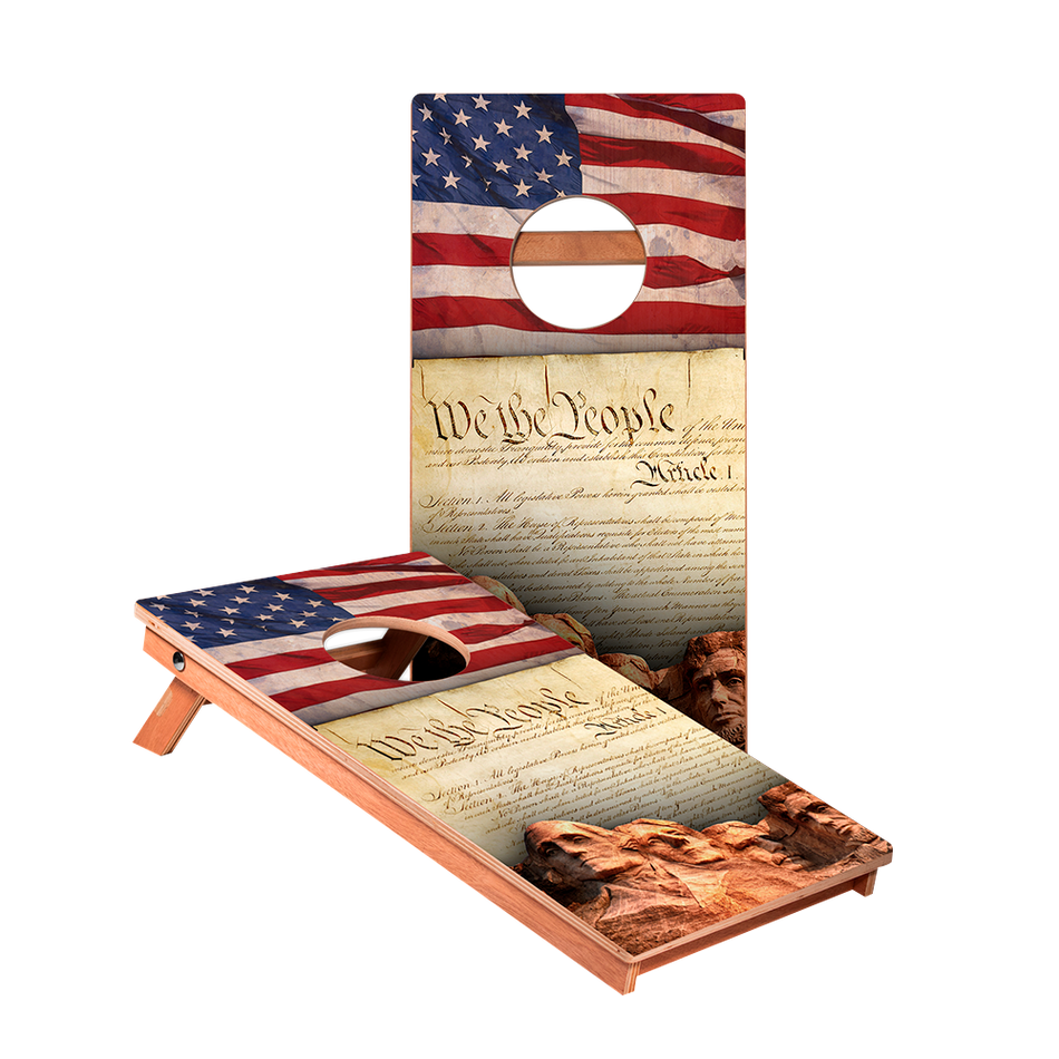KG We The People Junior Cornhole Boards bag toss game set