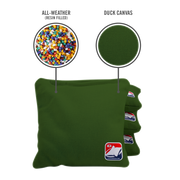 Hunter Green All Weather Cornhole Bags