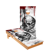 Mortem Skull Regulation Cornhole Boards Bag Toss Game Set