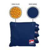 Navy Blue Corn Filled Cornhole Bags