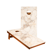 MP2 Orange And White Marble Professional Cornhole Boards