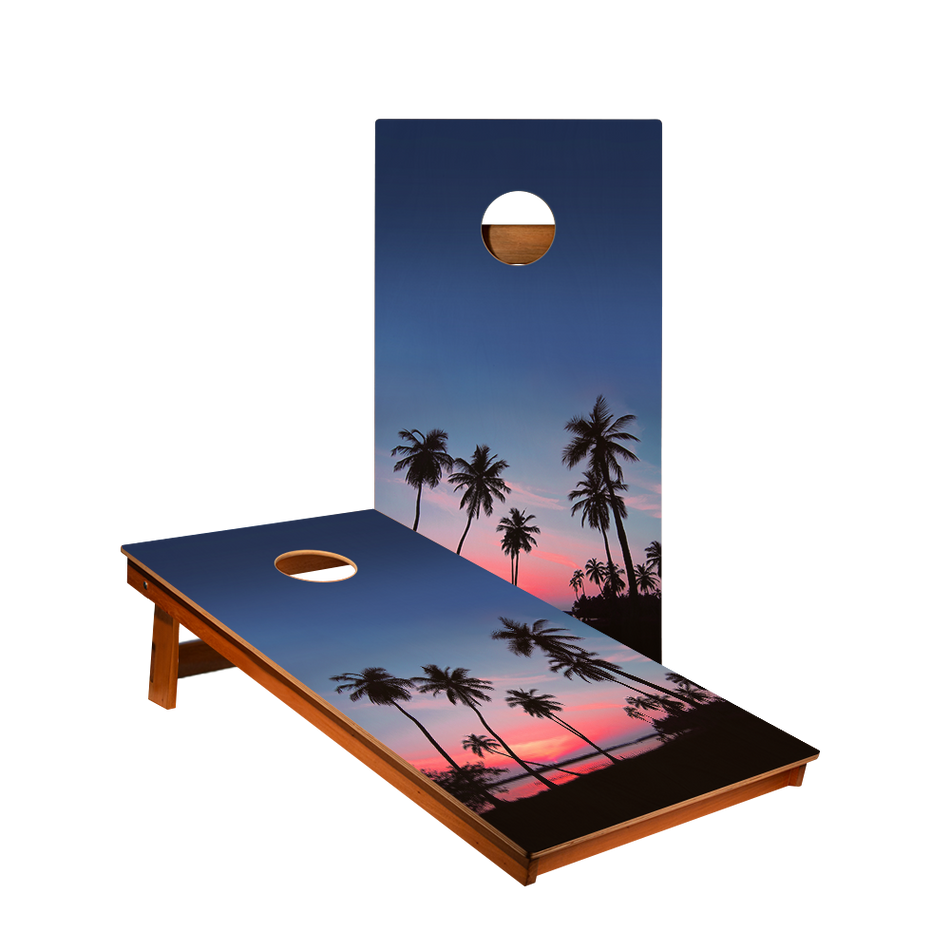 MP2 Palm Tree Sunset Professional Cornhole Boards