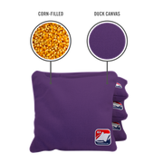 Purple Corn Filled Cornhole Bags