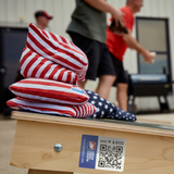 Red & White Stripes All Weather Cornhole Bags