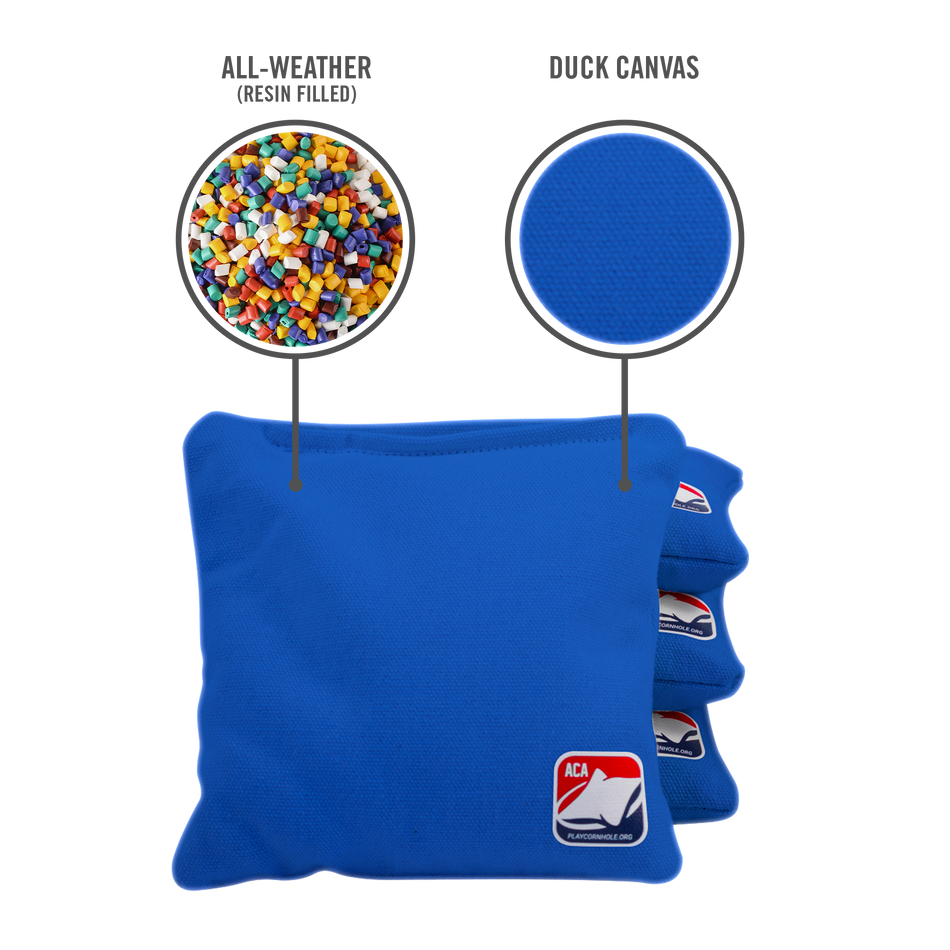 Royal Blue All Weather Cornhole Bags