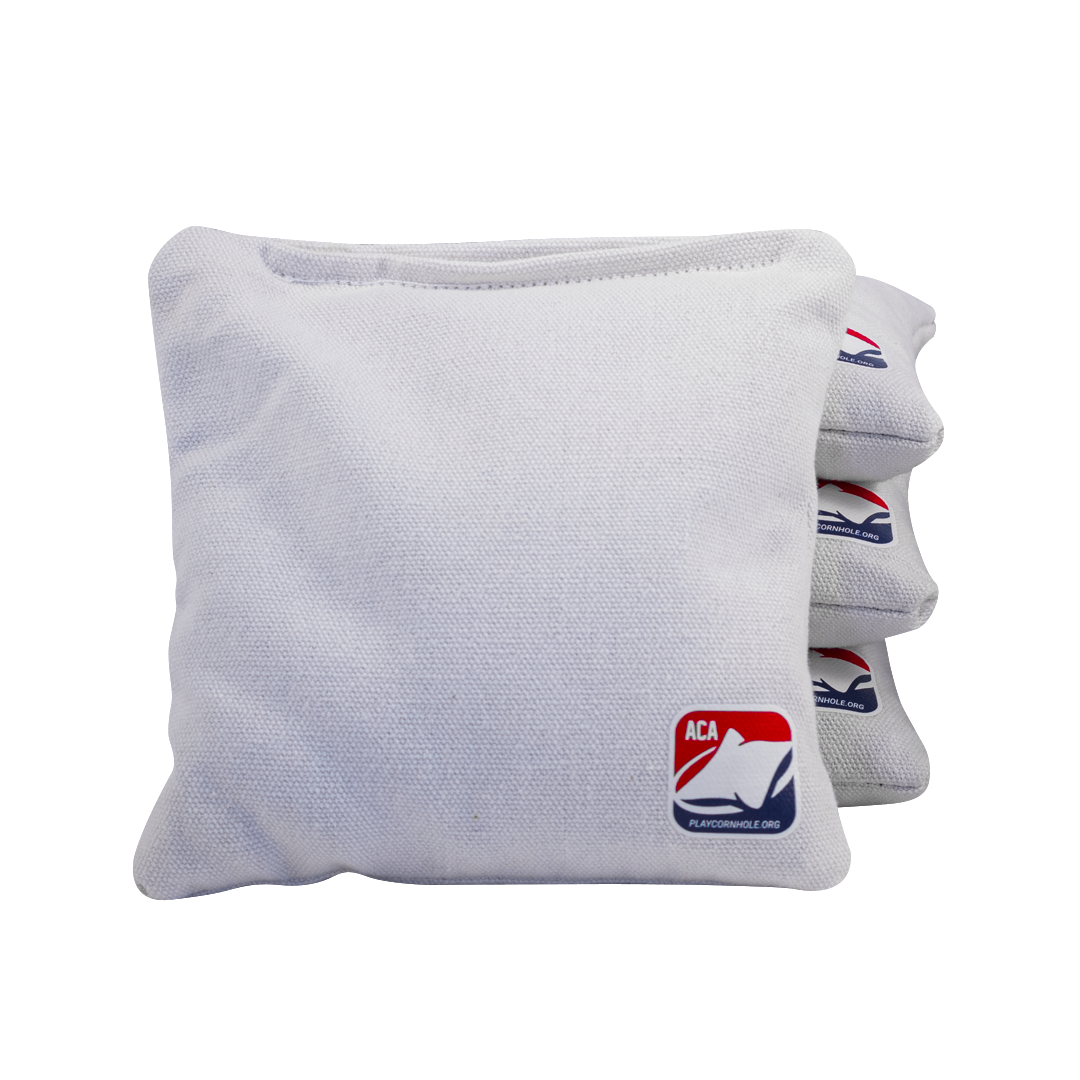 White Corn Filled Cornhole Bags