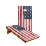 MP2 White Vintage American Flag Professional Cornhole Boards