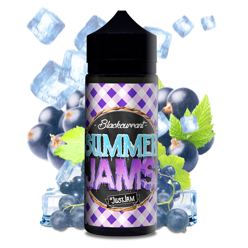 Just Jam Summer Jams- Blackcurrant 50/100ml Shortfill (80VG/20PG)