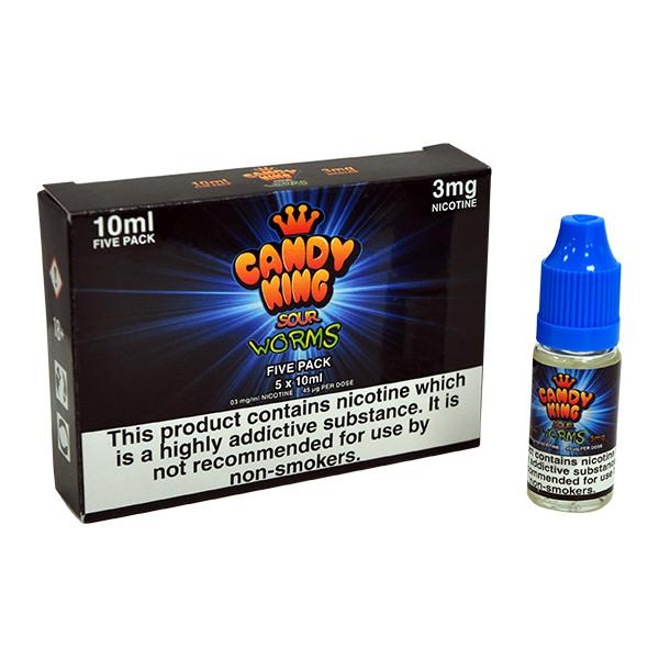 Candy King- Sour Worms 5x10ml 0mg/6mg