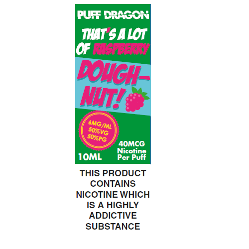 Puff Dragon Raspberry Doughnut 10ml