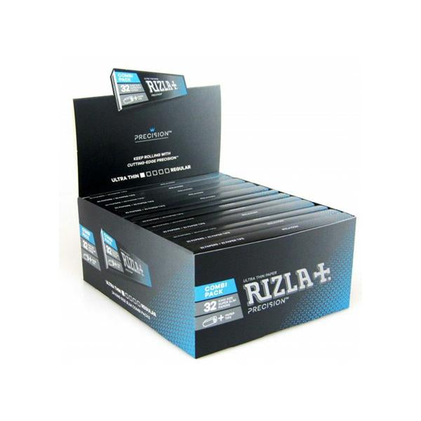 24 Rizla Precision Ultra Thin King Size Slim Papers + Tips Eco-Slim