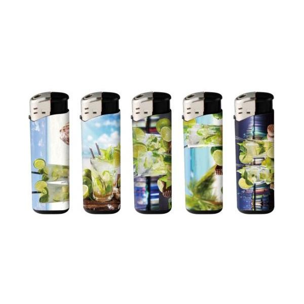 50 x 4Smoke Electronic Printed Lighters - ZY218DK