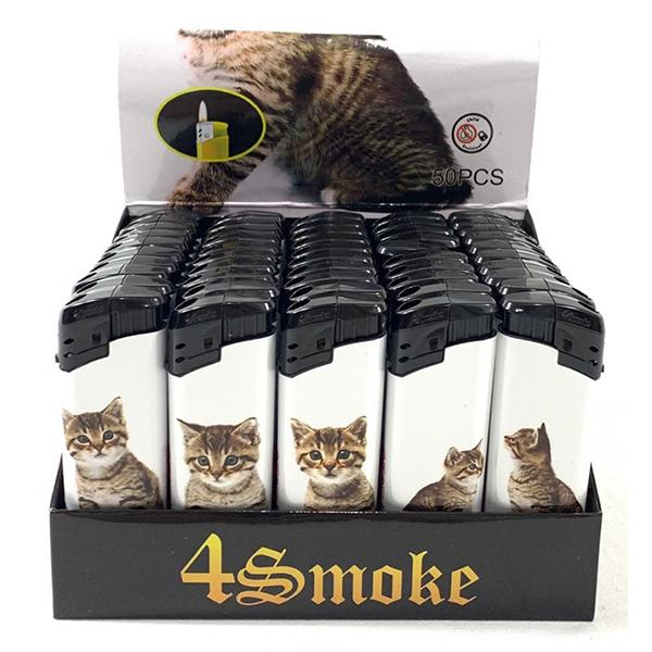 50 x 4Smoke Electronic Printed Lighters - DY068