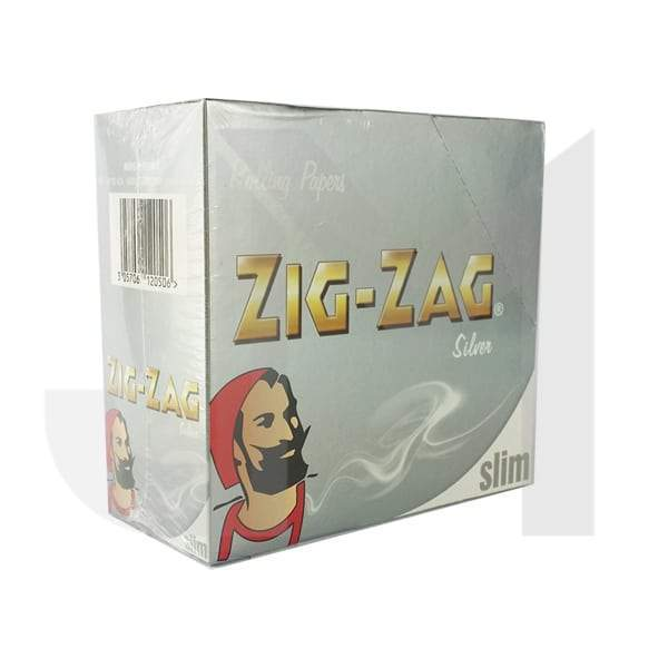50 Zig-Zag Silver King Size Slim Rolling Papers