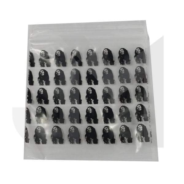 Zipper Branded 60mm x 60mm Bob Marley Bags
