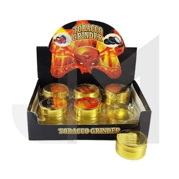 3 Parts Gold Coin Metal 50mm Grinder