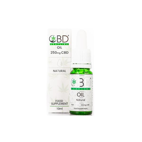 CBD Leafline 250mg CBD Food Supplement Oil 10ml