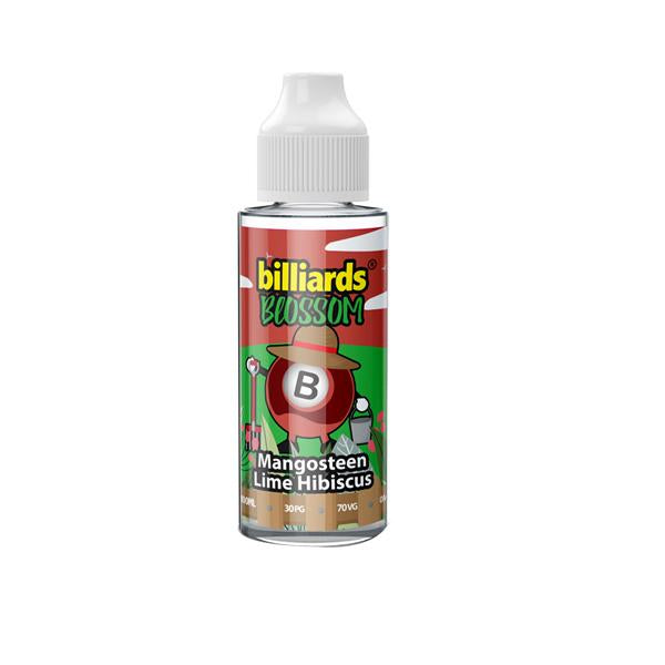 Billiards Blossom Range 100ml Shortfill 0mg (70VG/30PG)
