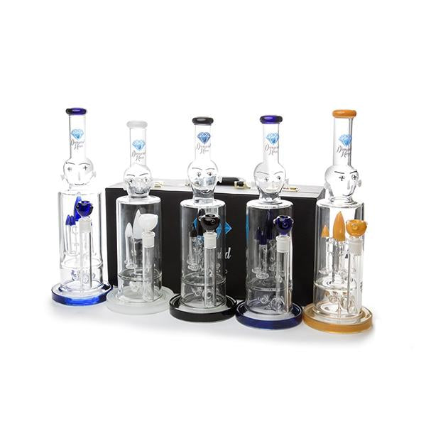 Diamond Haze Percolator Glass Bong - XD40