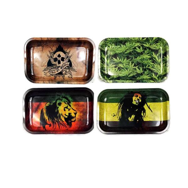 Mixed Design Metal Rolling Tray - 3401