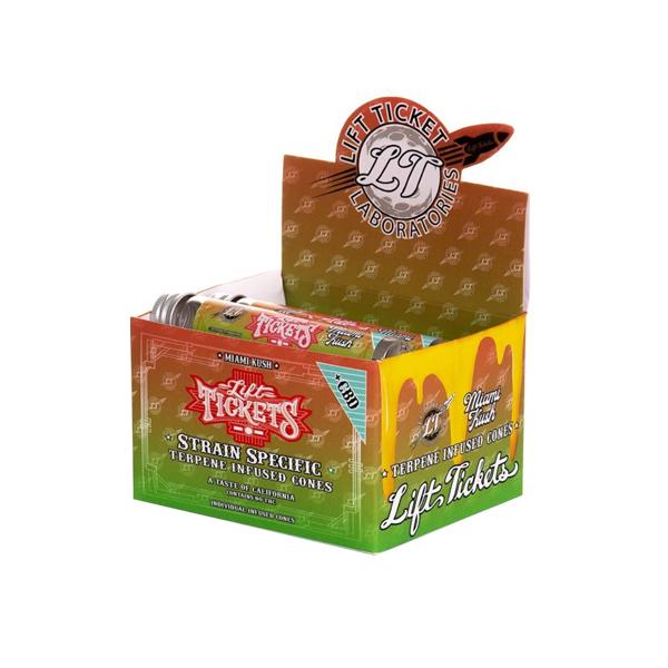 Lift Tickets 710 CBD Terpene Infused Rolling Cones - Miami Kush