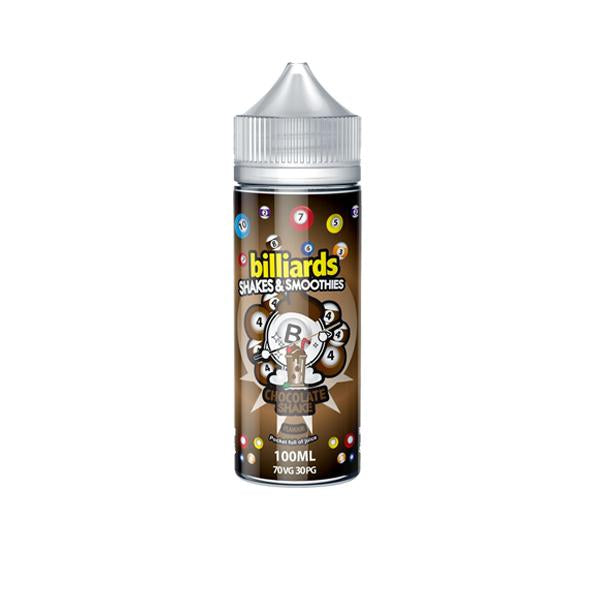 Billiards Shakes & Smoothies Range 0mg 100ml Shortfill (70VG/30PG)
