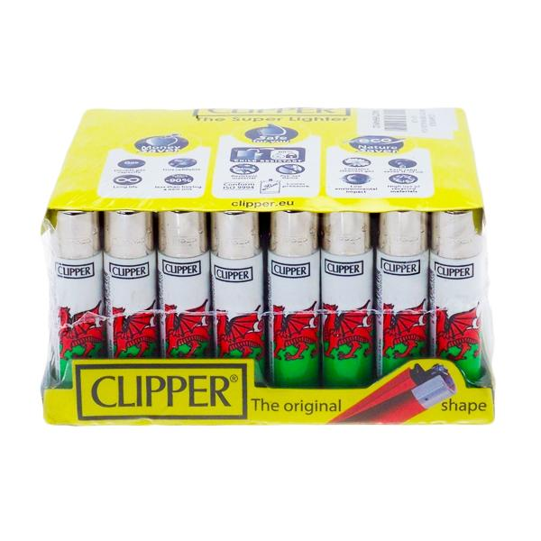 40 Clipper Refillable Classic Lighters Wales Flag - CL5C047UKH