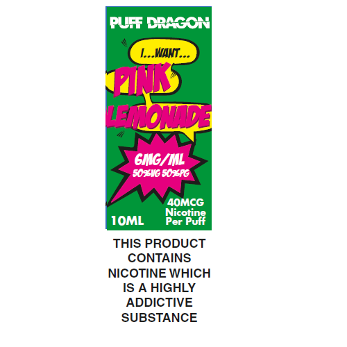 Puff Dragon Pink Lemonade 10ml