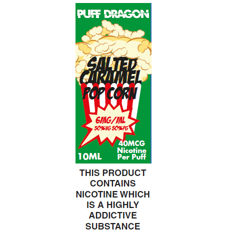 Puff Dragon Salted Caramel Popcorn 10ml