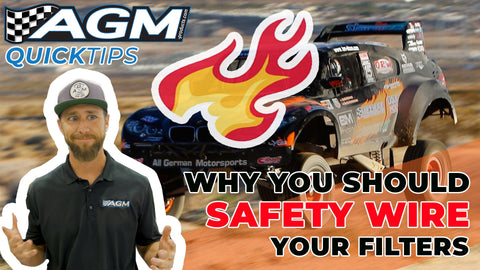Why you should safety wire your filters. Hint - it involves fire! | AGM Quick Tips