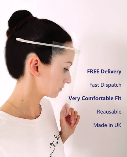 Face shields Reusable Protection -  (4 PACK) Back In Stock 27th Aug. - Bfit4Business